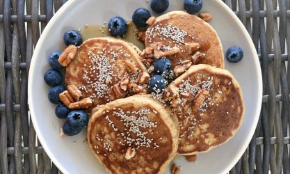 Plant Based Pancakes With Blueberry