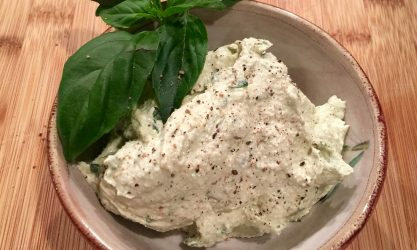 plant based basil and cashew cream cheese recipe